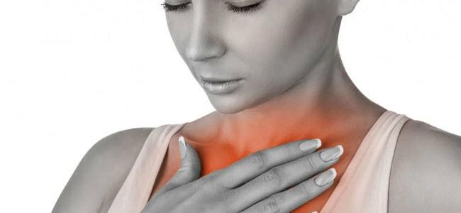 Боль отдает в грудную клетку